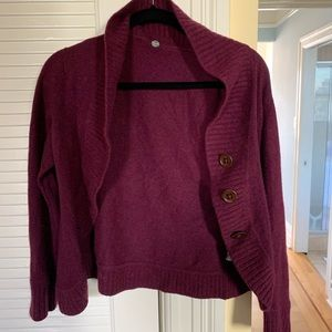 Margaret O'Leary Purple Cardigan
